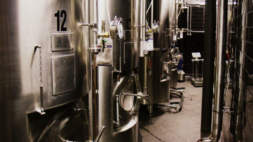 Instalacja piwna na niższym poziomie